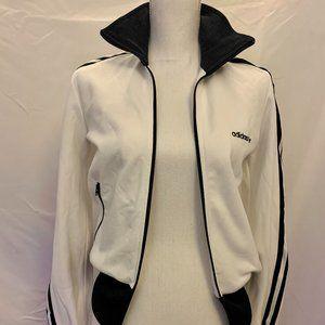 Adidas White & Black Track Jacket Women's S